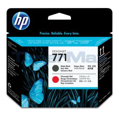 HP NO 771 DESIGNJET PRINTHEAD MATTE BLACK/CHROMATIC RED
